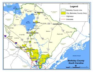 Sample Image of Small General Berkeley County Map
