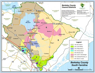 Sample Image of small version of Berkeley County Council Map