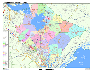 Sample Image of Berkeley County Fire District Map