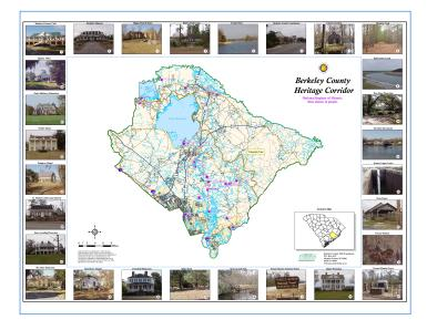 Sample Image of Berkeley County Heritage Corridor Map
