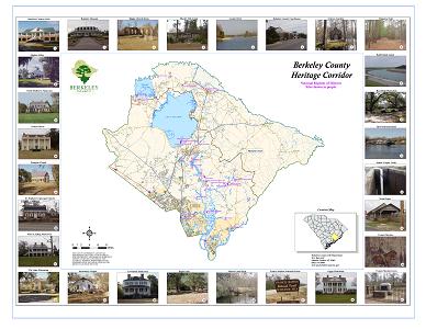 Sample Image of Berkeley County Heritage Corridor Map