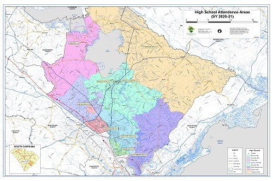 Sample Image of High School Attendance Areas Map