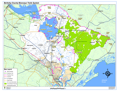 Sample Image of Berkeley County Paddle Trails Map