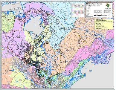 Sample Image of State House Districts Map