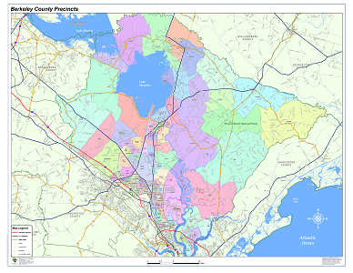 Sample Image of Berkeley County Voting Precincts Map