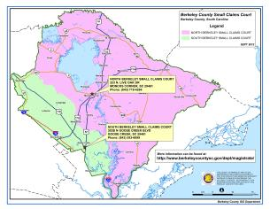 Sample Image of Berkeley County Small Claims Courts Jurisdiction Map