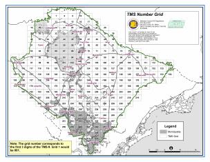 Sample Image of Berkeley County Tax Map Grid Map