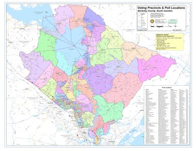 Sample Image of Berkeley County Voting Precincts Map