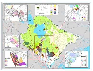 Sample Image of Berkeley County Zoning Map with Municipalities
